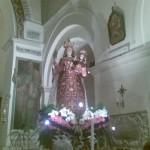 Immagine di Maria SS. del Carmelo nella chiesa omo
