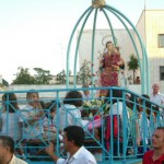 L'arrivo in Piazza Caduti del Terrorismo. Sul carr